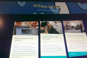 Tjek 10 Days of Giving hjemmesiden
