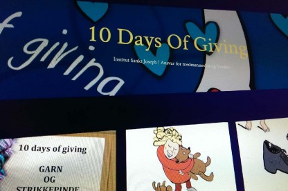 10 Days of Giving's officielle hjemmeside er oppe