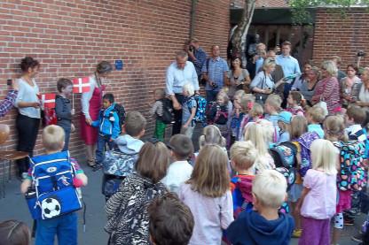 Børnehaveklassernes første skoledag