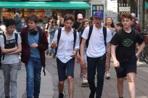 7.b guidede rundt i København på engelsk