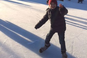 Vintervejr og skøjter