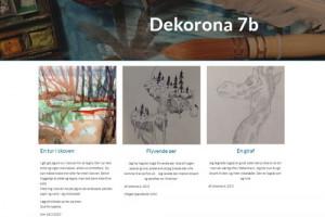 Billedkunst i 7. klasserne på nettet
