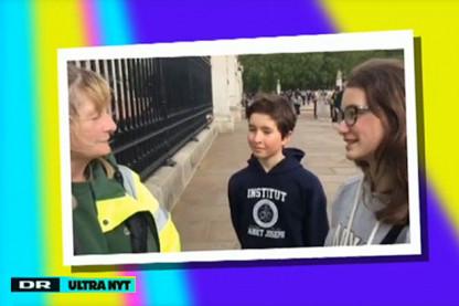 Elever fra Institut Sankt Joseph interviewet i London