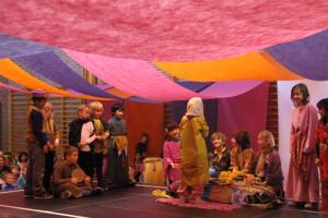 Opførelse af Aladdin i Hallen
