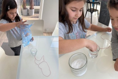 Exciting ice experiment