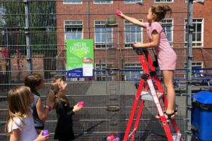 Fine donationer til vores nye skolegård