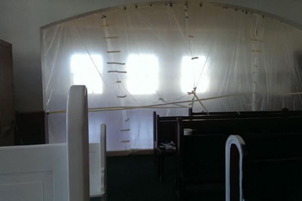Skolens kirke og musiklokalet