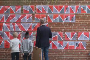 Kunstinstallation i skolegården