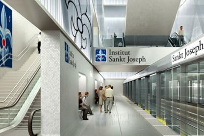 Institut Sankt Joseph får egen metro-station