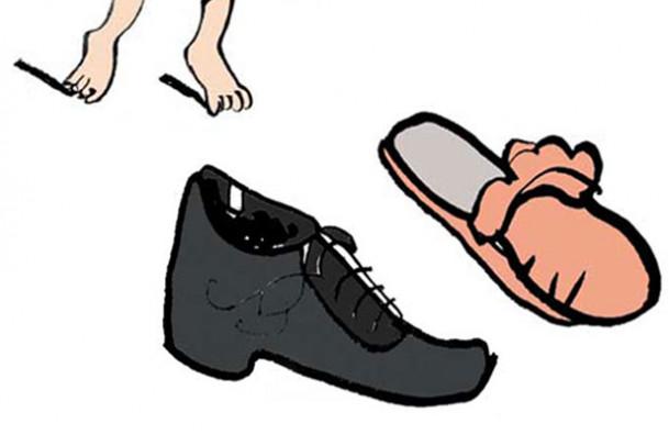 Indsamling af sko til flygtningebørn