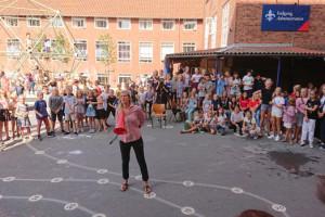 Billeder af elever og lærere