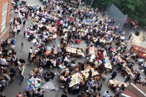 Sommerfest i strålende vejr