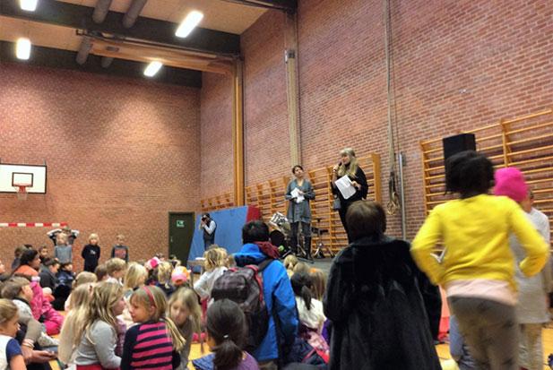 Talentkonkurrencen i Hallen var vel besøgt af børn samt forældre, der nød de mange optrædende